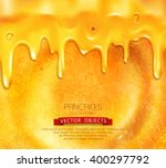 vector pancake with honey close ... | Shutterstock .eps vector #400297792