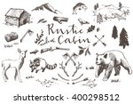 Rustic Cabin Hand Drawn...