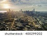 Sunrise Above City Of Chicago...