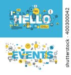 set of modern vector... | Shutterstock .eps vector #400300042