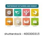 partnership flat icon set | Shutterstock .eps vector #400300315