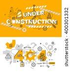 set of modern vector... | Shutterstock .eps vector #400301332