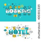 set of modern vector... | Shutterstock .eps vector #400301335