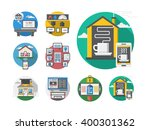 technology wireless control for ... | Shutterstock .eps vector #400301362