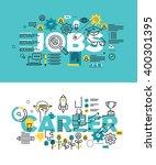 set of modern vector... | Shutterstock .eps vector #400301395