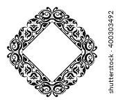 abstract vintage floral frame.... | Shutterstock .eps vector #400303492