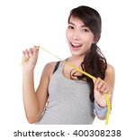 beautiful woman smiling with a... | Shutterstock . vector #400308238