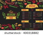 vintage mexican food menu with...   Shutterstock .eps vector #400318882