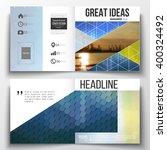 vector set of square design... | Shutterstock .eps vector #400324492