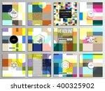 set of 12 creative cards ... | Shutterstock .eps vector #400325902