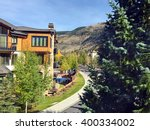 mountains and path in vail ... | Shutterstock . vector #400334002
