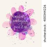 creativity inspirational poster ...   Shutterstock .eps vector #400344226