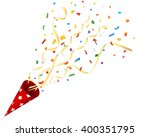 exploding party cracker with... | Shutterstock .eps vector #400351795