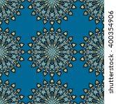 round mandala seamless pattern. ... | Shutterstock .eps vector #400354906