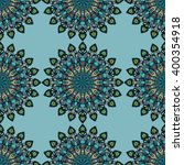 round mandala seamless pattern. ... | Shutterstock .eps vector #400354918