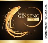 ginseng premium vector  | Shutterstock .eps vector #400355326