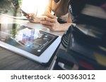 designer hand working with... | Shutterstock . vector #400363012