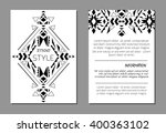 set of vector geometric black... | Shutterstock .eps vector #400363102