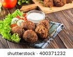 chickpea falafel balls on a... | Shutterstock . vector #400371232