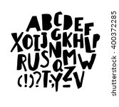 paper cut alphabet. black ...   Shutterstock .eps vector #400372285