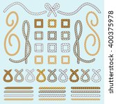 rope brushes vector set or... | Shutterstock .eps vector #400375978
