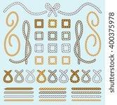 rope brushes vector set or...   Shutterstock .eps vector #400375978