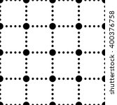 black and white dotted squares... | Shutterstock .eps vector #400376758