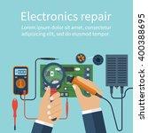 electronics repair.  vector... | Shutterstock .eps vector #400388695