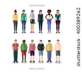 collection of twelve people... | Shutterstock .eps vector #400389262