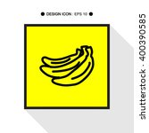 banana hand draw icon set great ...