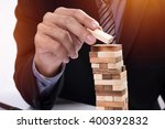 planning  risk and strategy in... | Shutterstock . vector #400392832