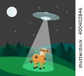 Ufo Abducts Cow.flying Saucer...