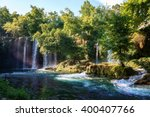 duden waterfall antalya turkey. ... | Shutterstock . vector #400407766
