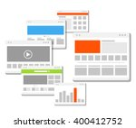 web site page templates... | Shutterstock .eps vector #400412752