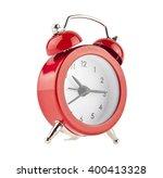 red bell clock  alarm clock ... | Shutterstock . vector #400413328