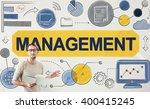 management manager managing... | Shutterstock . vector #400415245