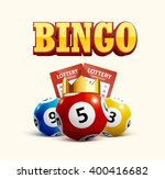 lottery icon realistic objects... | Shutterstock .eps vector #400416682