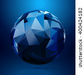 3d sphere made with geometrical ... | Shutterstock .eps vector #400424182