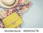 casual female clothes | Shutterstock . vector #400424278