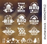 set of barbecue labels  badges  ... | Shutterstock .eps vector #400429912