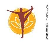 yoga pose icon | Shutterstock .eps vector #400438642