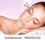 closeup portrait of a beautiful ... | Shutterstock . vector #400442152