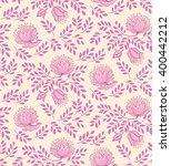 floral seamless pattern. pink... | Shutterstock .eps vector #400442212