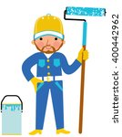 professional painter with the... | Shutterstock .eps vector #400442962
