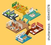 mall isometric icon set with... | Shutterstock .eps vector #400445578