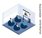 coworking training for people... | Shutterstock .eps vector #400445596
