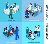 doctor patient isometric icon... | Shutterstock .eps vector #400445605