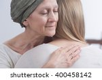 sick woman with cancer hugging...   Shutterstock . vector #400458142