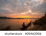 life of asian fisherman at... | Shutterstock . vector #400462006