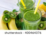 green smoothie with spinach... | Shutterstock . vector #400464376